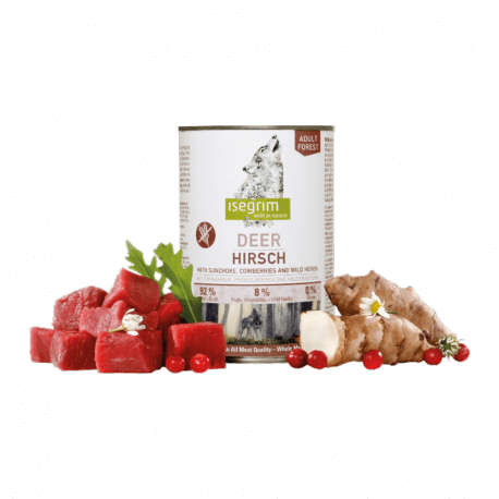 ISEGRIM Adult Forest: Jelení maso s topinambury, brusinkami a bylinkami