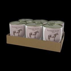 SIX PACK BOHEMIA Koňské maso ve vlastní šťávě 6x800 g