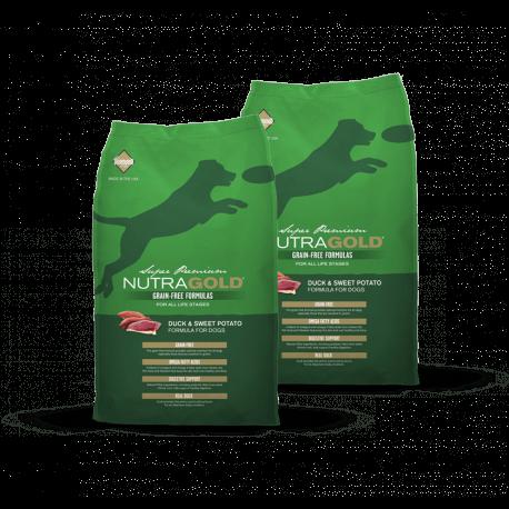 DVOJBALENÍ NUTRAGOLD Duck&Sweet Potato GRAIN FREE 2x13,6 kg